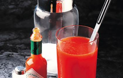 tomato-juice on airplane