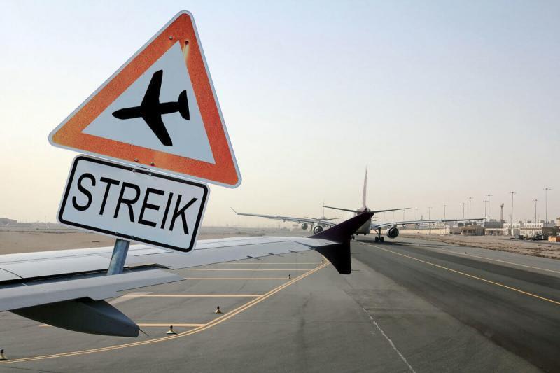 Streik am Flughafen © Astrid Gast; fotolia.com